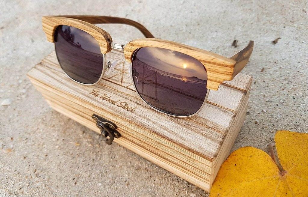 lunettes de soleil en bois Clubmaster