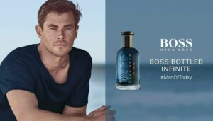 pub du parfum Boss Bottled Infinite 2019 avec l'acteur Chris Hemsworth