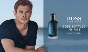 pub du parfum Boss Bottled Infinite 2019 avec l'acteur Chris Hemsworth