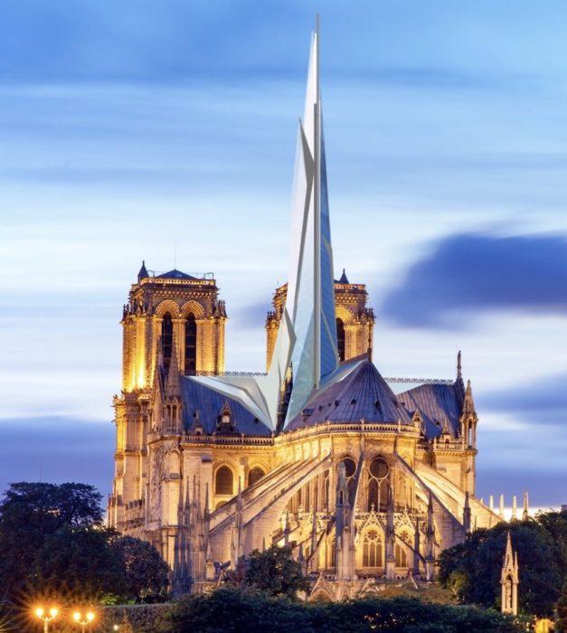 Reconstruction moderne de Notre-Dame de Paris : architecte DPLG Alexandre Chassang
