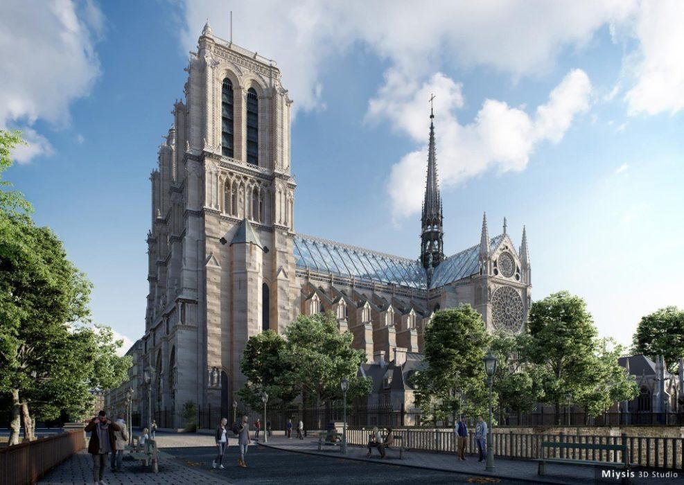 Reconstruction moderne de Notre-Dame de Paris : proposition de Miysis