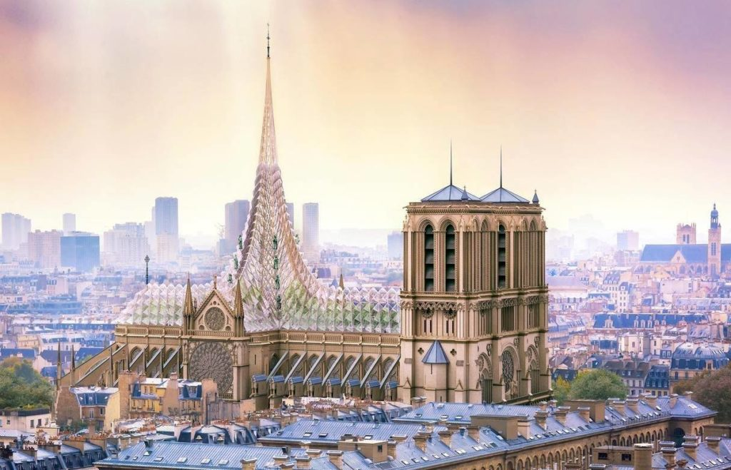 reconstruction moderne de Notre-Dame de Paris : Vincent Callebaut - 01