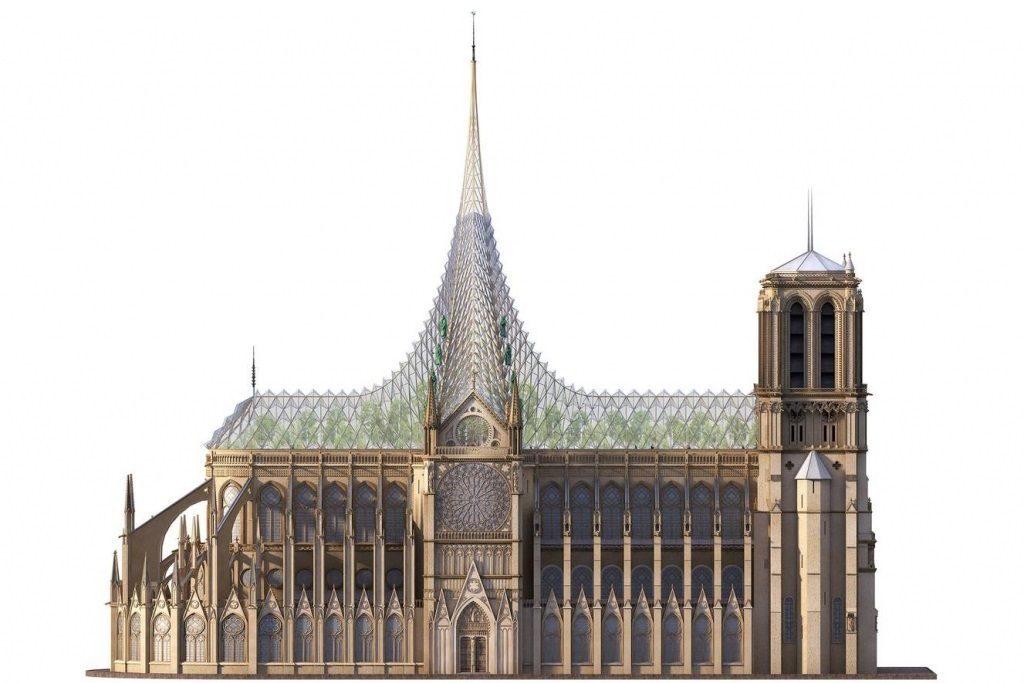 reconstruction moderne de Notre-Dame de Paris : Vincent Callebaut - 02