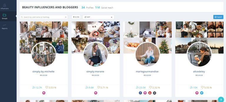 stellar : profils d'influenceurs