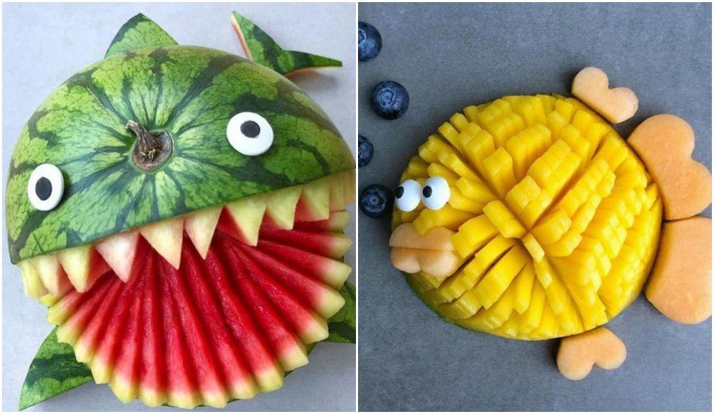 fruits transformés en adorables personnages