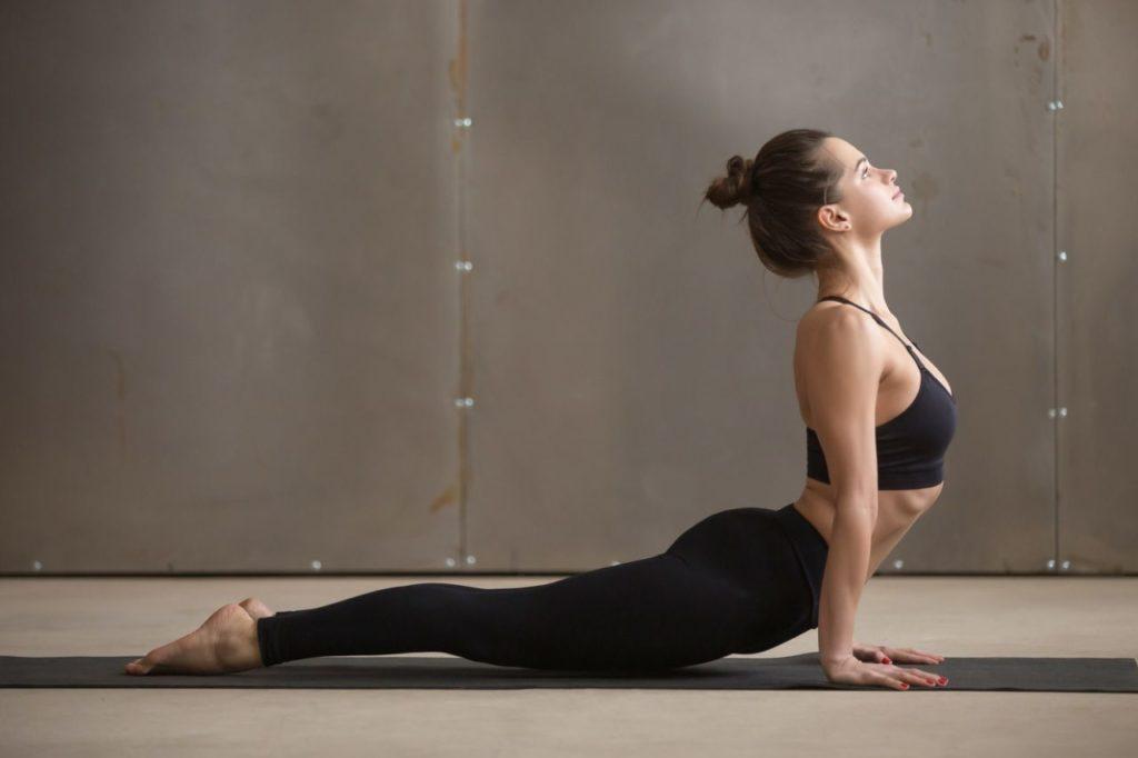 Yoga posture cobra