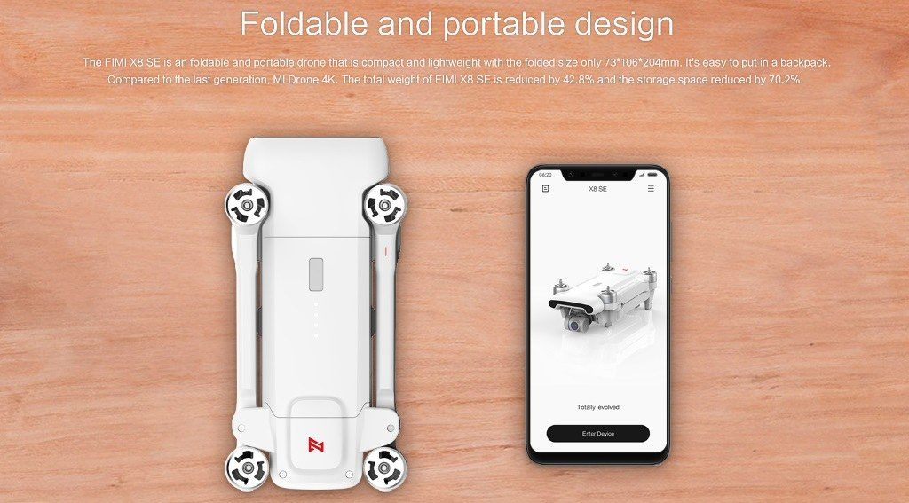 Xiaomi Fimi X8 SE : design