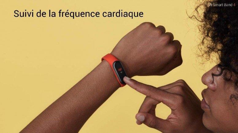 Xiaomi Mi Band 4 : suivi de la fréquence cardiaque