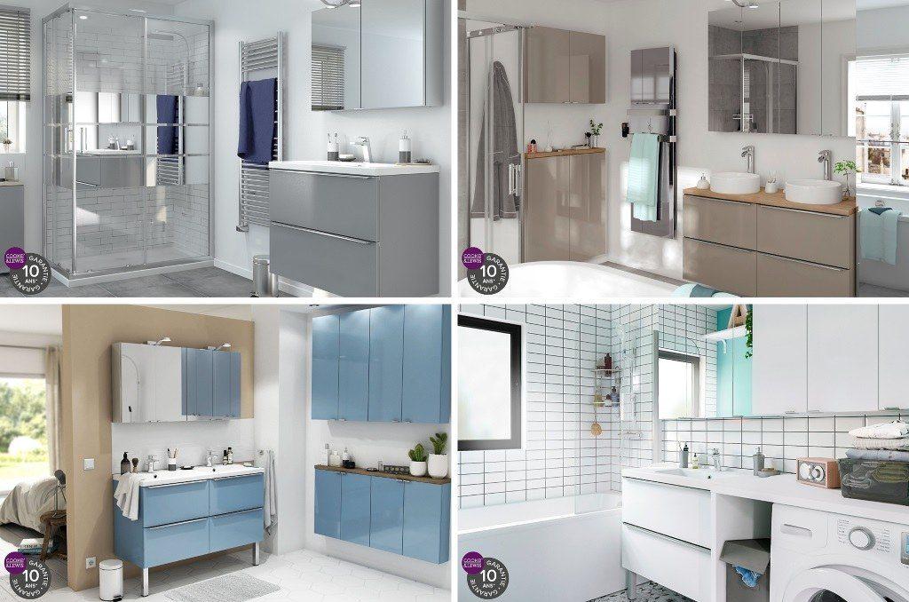 couleurs des meubles de salle de bain