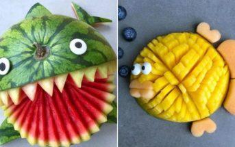 Cette maman transforme des fruits en adorables personnages