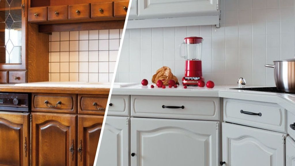 home staging cuisine : repeindre les meubles