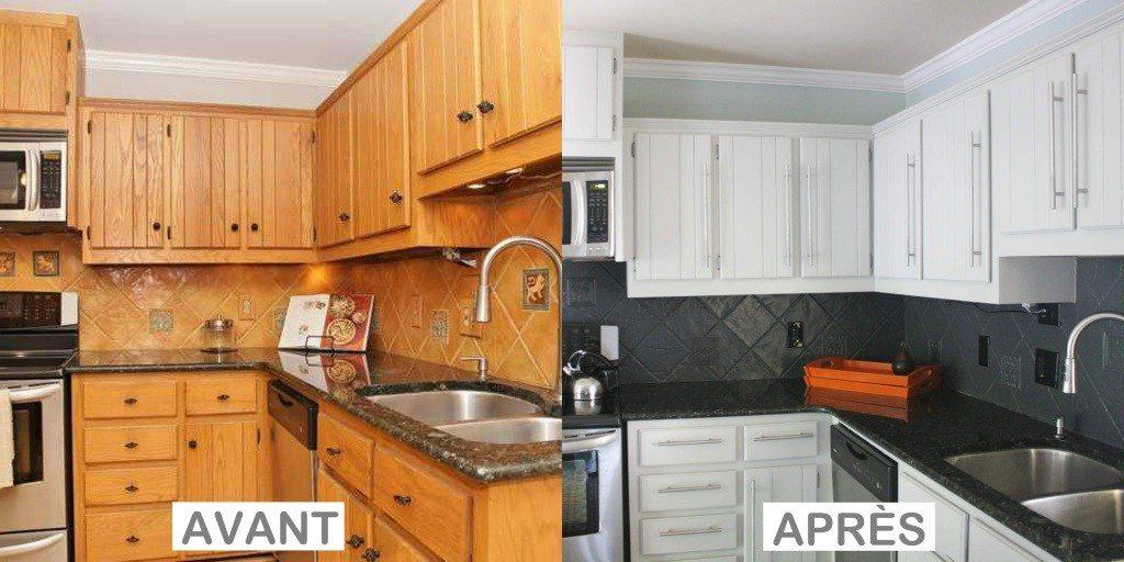 home staging déco cuisine : avant / après