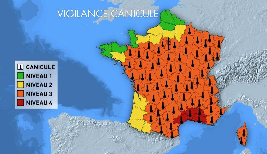 météo : vigilance rouge alerte canicule en France
