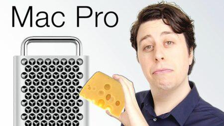 parodie apple mac pro 2019 transformé en râpe à fromage