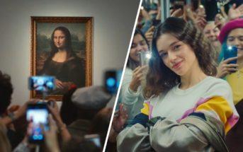 Mona Lisa by Perrier : la Joconde s'échappe du Louvre dans la pub 2019