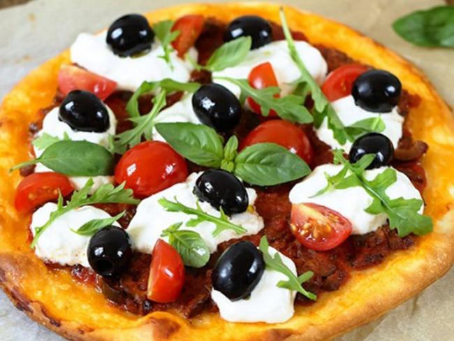 recette de pizza à la burrata