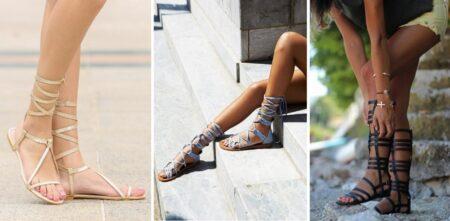 sandales montantes