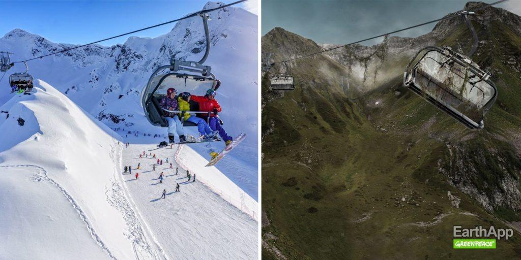 EarthApp : station de sport d'hiver russe