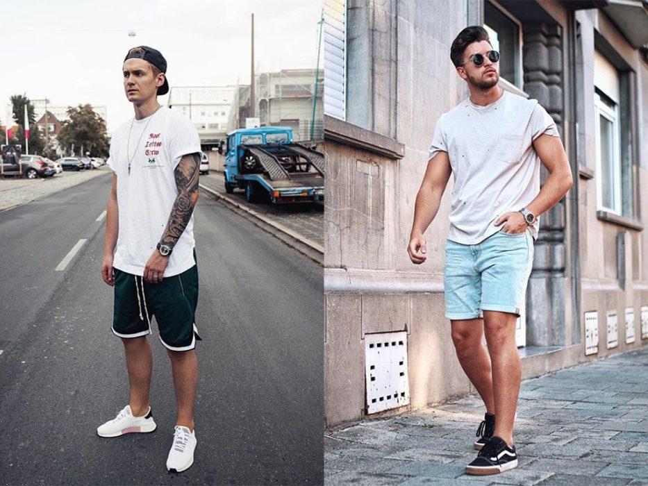 Bermuda et tshirt pour un look streewear estival