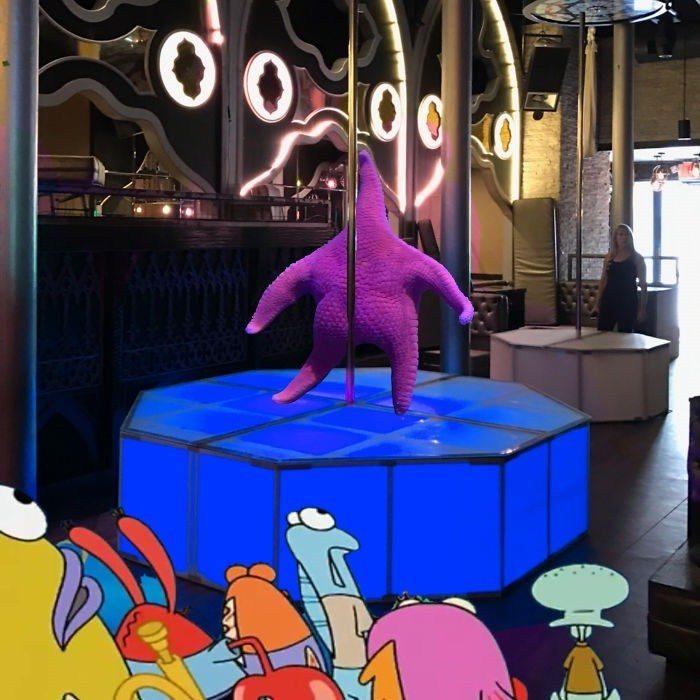 Détournement de l'étoile de mer qui ressemble à Patrick de Bob l'éponge - 07 - pole dance
