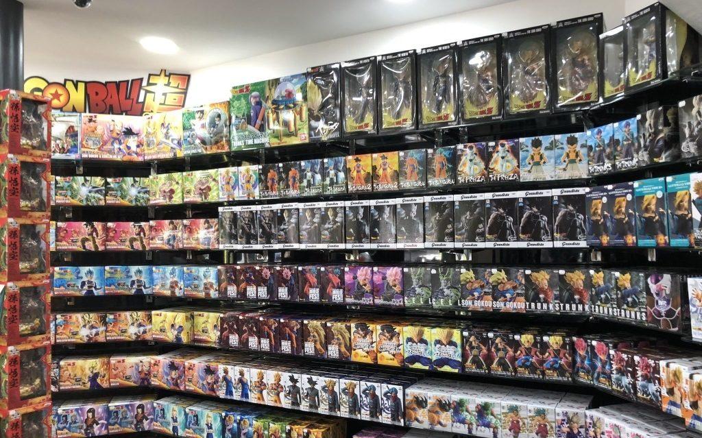 emballage des figurines manga