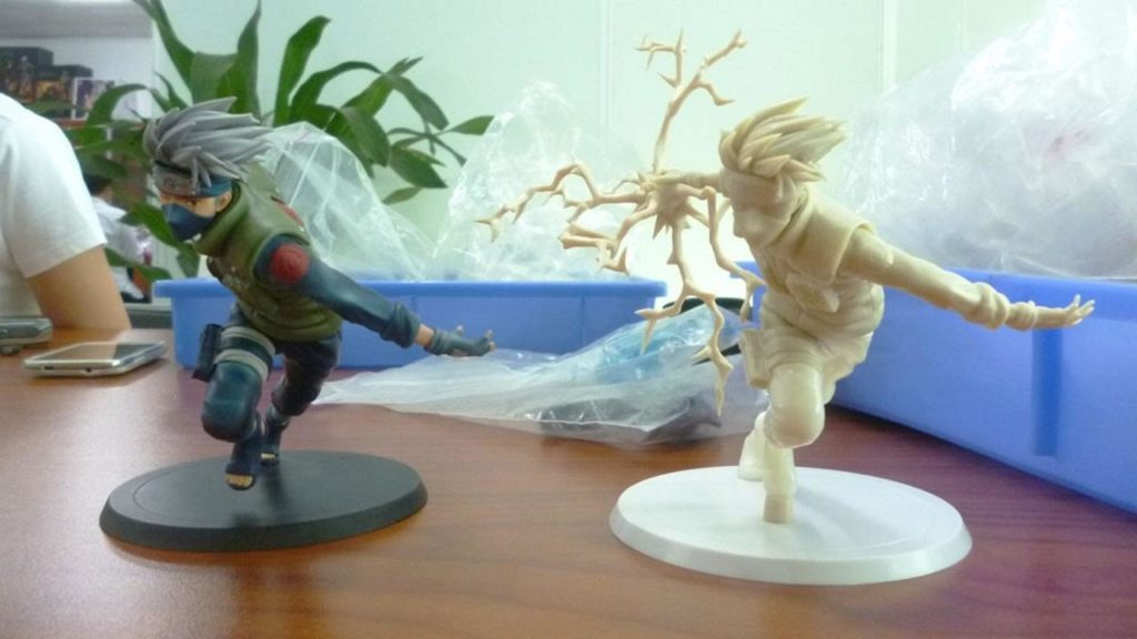 fabrication d'une figurine manga geek de collection