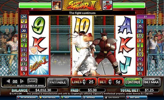 street fighter : machine à sous