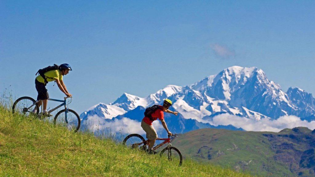 le vtt : sport d'été à la montagne