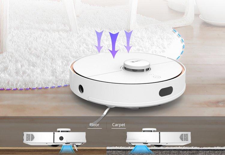 360 S7 robot aspirateur tapis