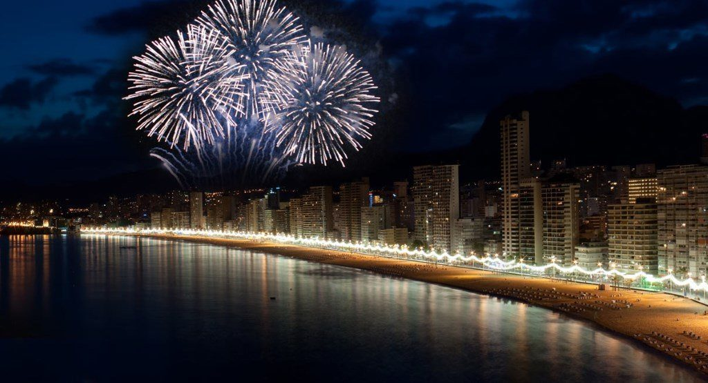 Benidorm : feu d'artifice