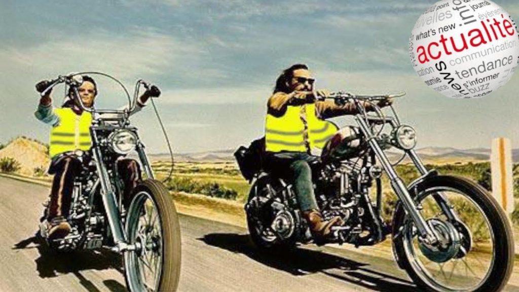 gilet jaune à moto