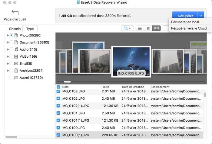 récupération de données mac avec EaseUS Data Recovery Wizard
