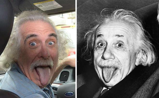 sosie : il ressemble à Albert Einstein