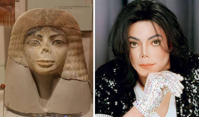 statue égyptienne qui ressemble à Michael Jackson