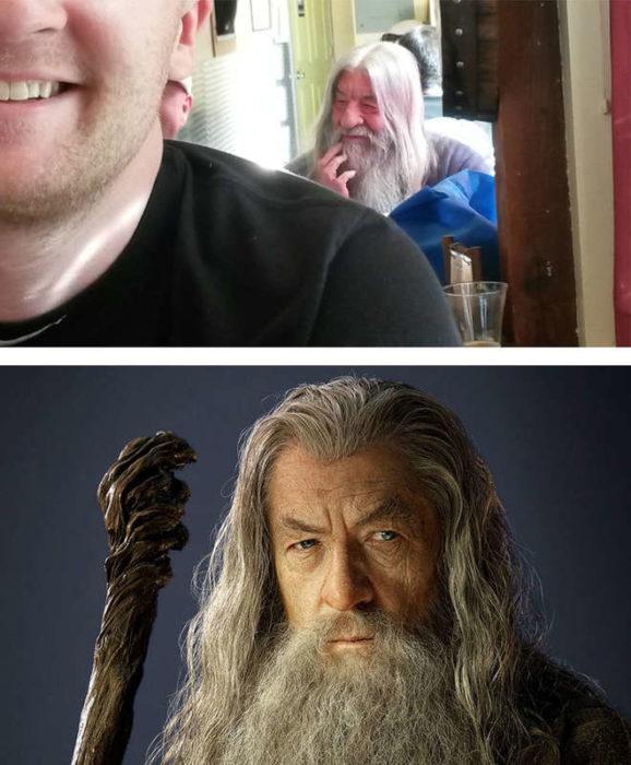 homme qui ressemble à Gandalf