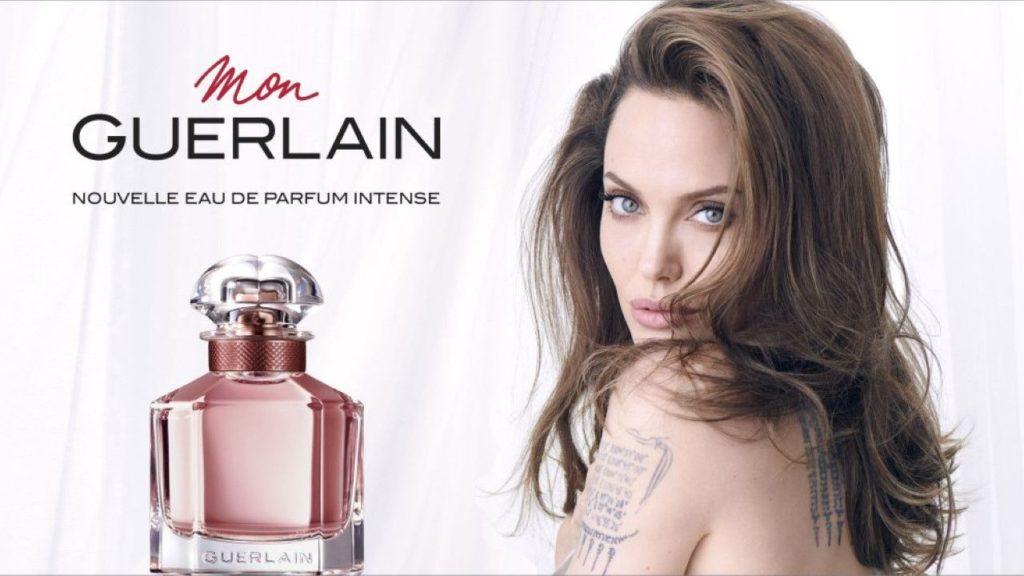 """pub """"Mon Guerlain"""" 2019 avec Angelina Jolie"""
