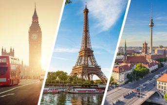 Week-end en Europe à petit budget : top 10 des meilleures villes
