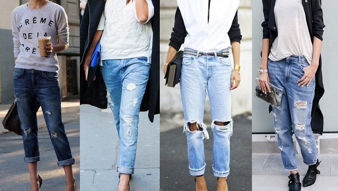 """Le jean """"boyfriend"""" déchiré restera une pièce indispensable de votre dressing cet automne"""