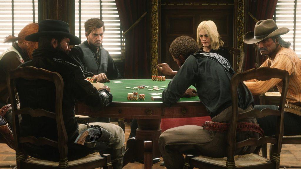 Des jeux de casino comme le poker sont aussi proposés dans Red Dead Online, un autre jeu vidéo Rockstar Games