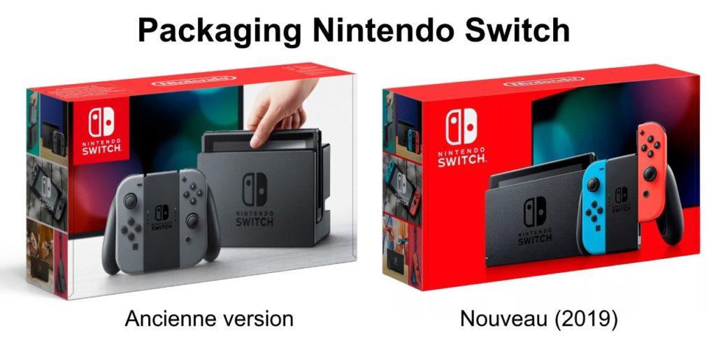 nouvelle switch 2019 vs ancienne : les différences de packaging