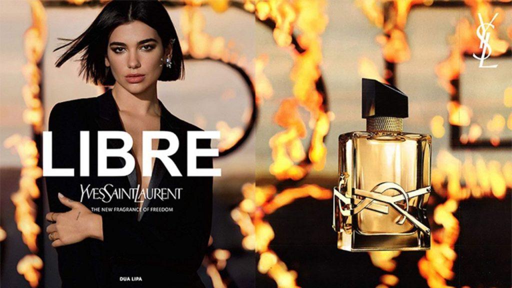 pub du parfum Libre de Yves Saint Laurent avec Dua Lipa