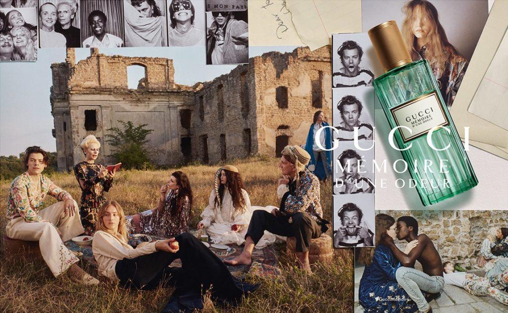 """pub du parfum Gucci """"Mémoire d'une Odeur"""" avec Harry Styles"""