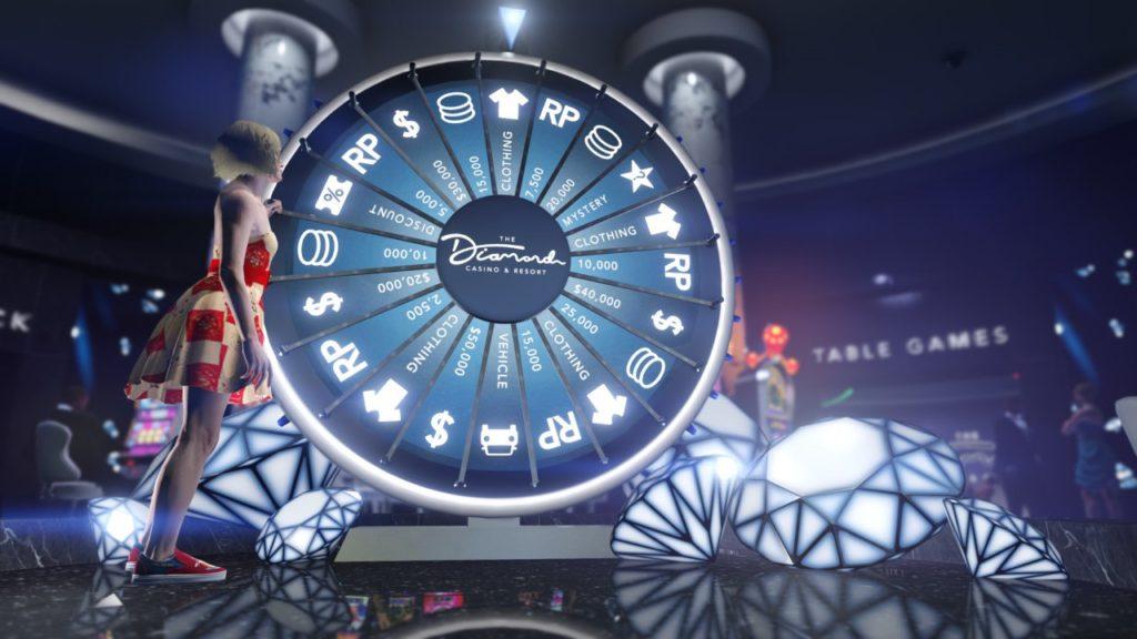 La roue de la fortune virtuelle dans le Diamond casino de GTA Online