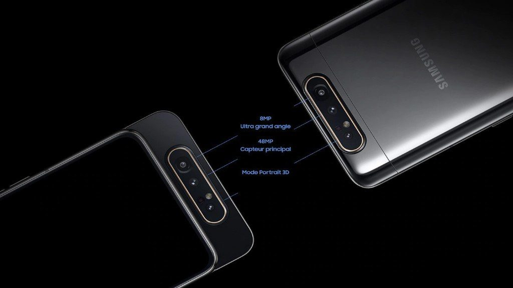 Samsung Galaxy A80 : caméra avec 3 capteurs