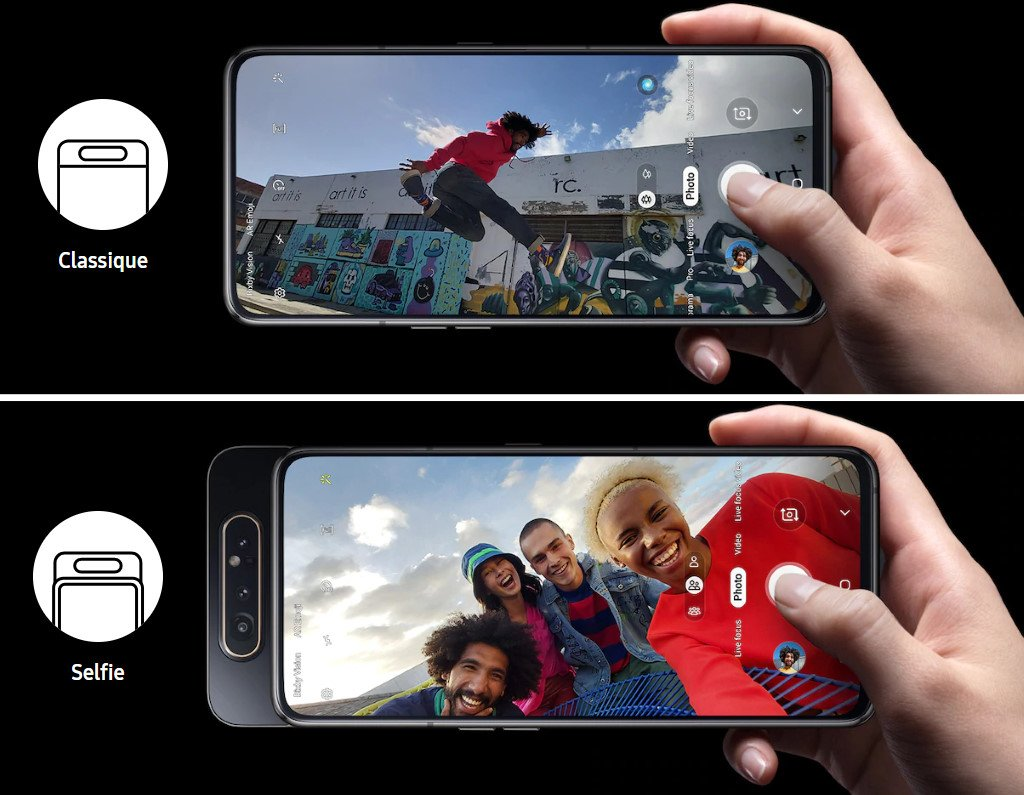 Samsung Galaxy A80 : caméra rotative
