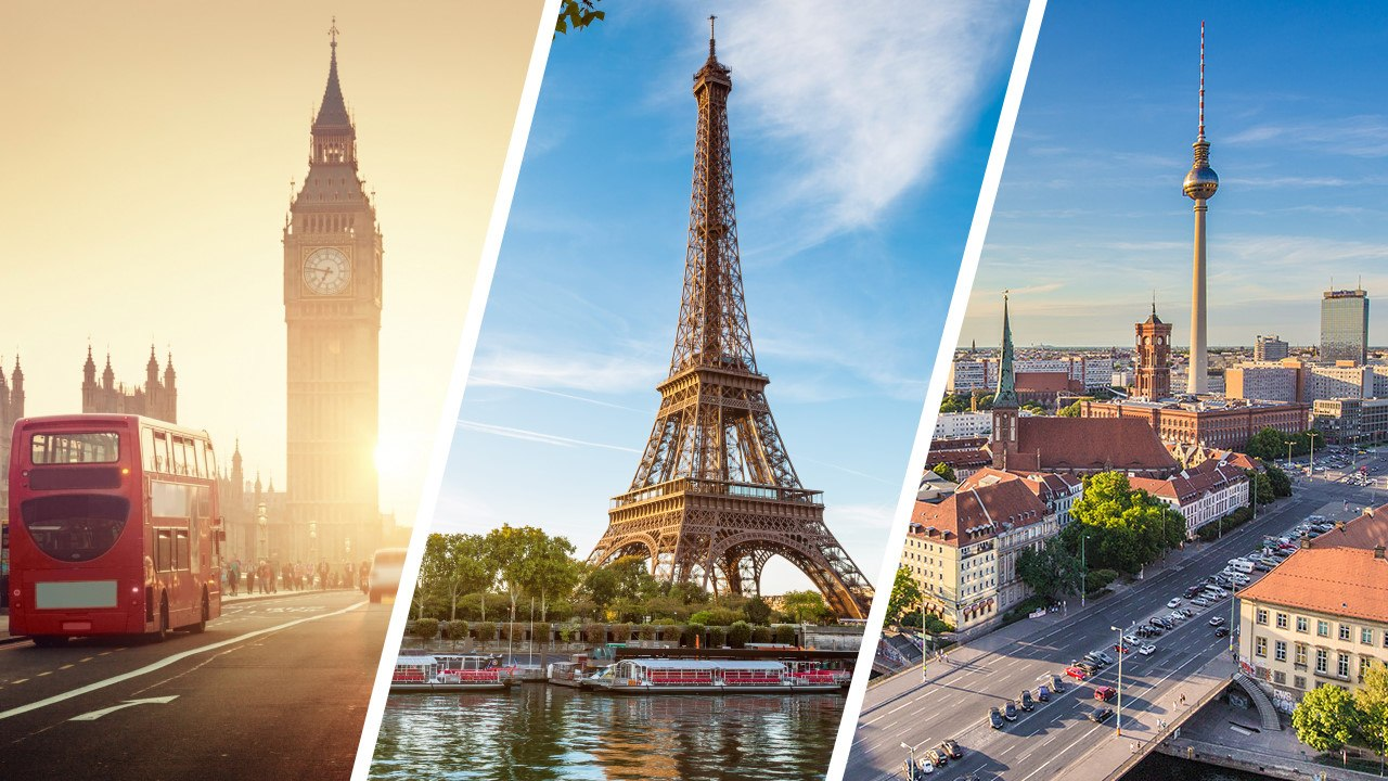 Week-end en Europe : les meilleures villes