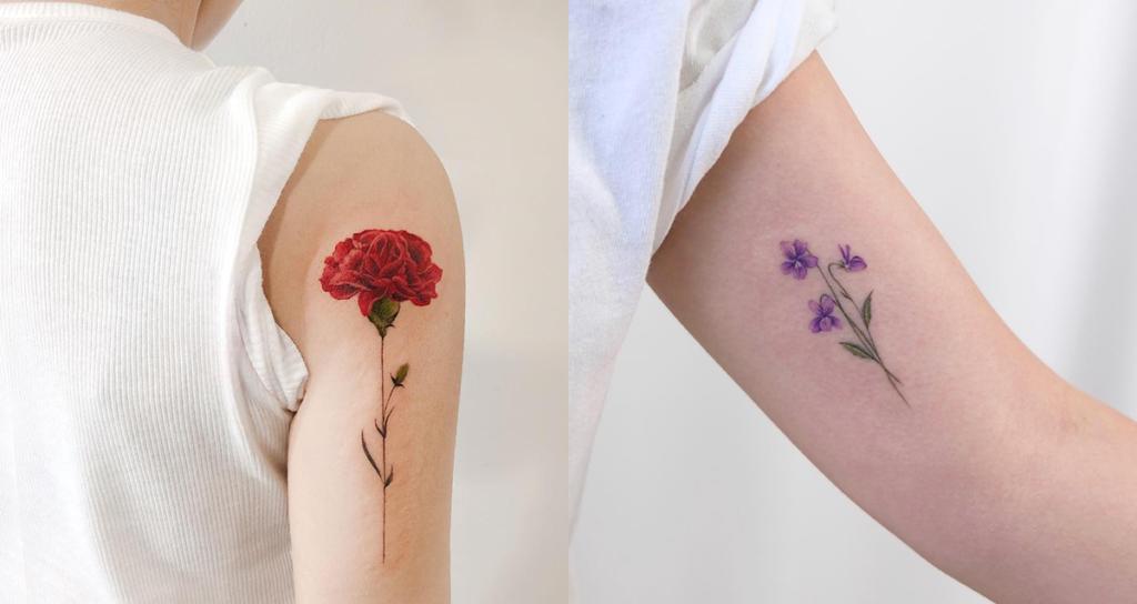 tattoo fleurs