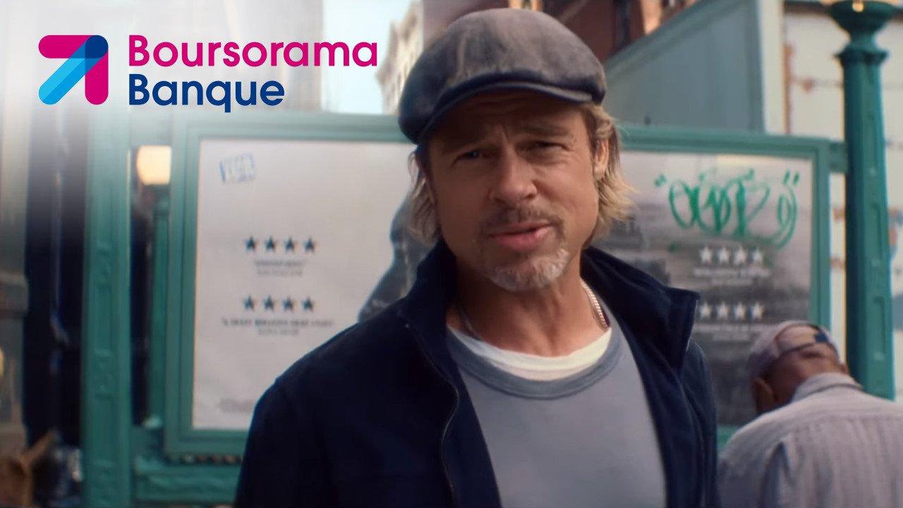 Brad Pitt dans la pub Boursorama Banque 2019