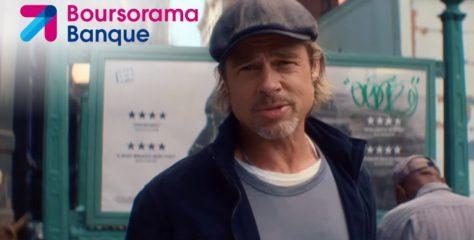 Boursorama Banque s'offre un Brad Pitt muet dans sa pub 2019 !