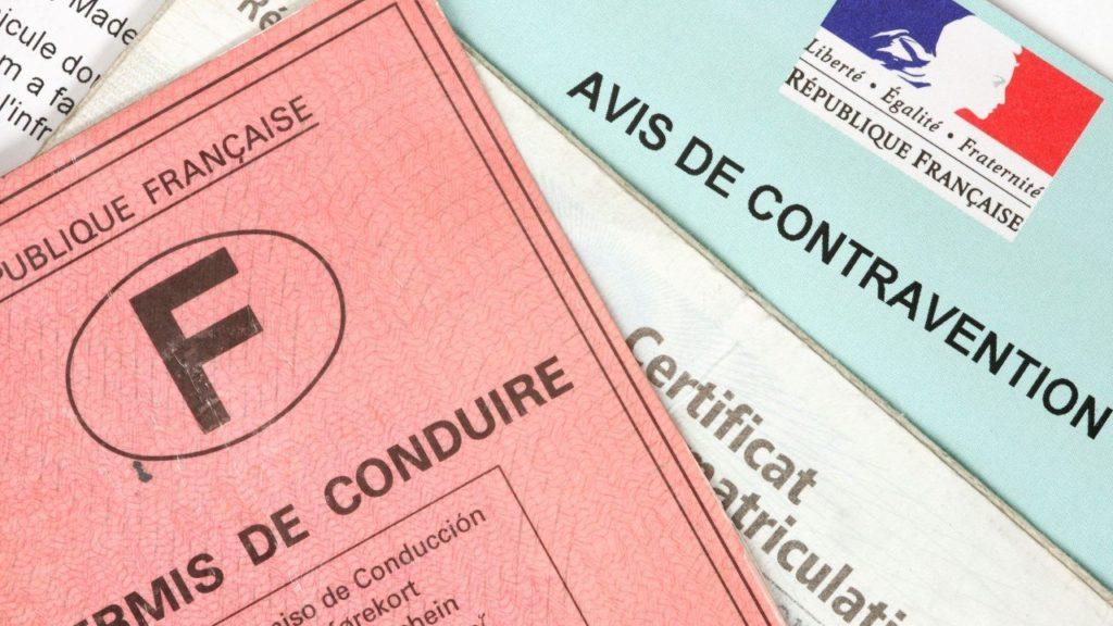 perte de points sur le permis de conduire suite à une contravention